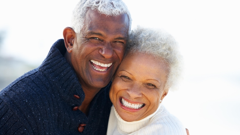 Older Couple | Custom Dentures in Montrose